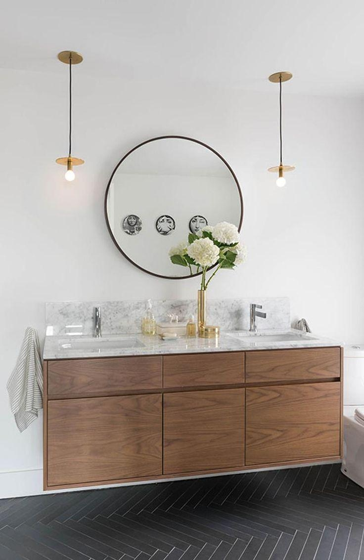 Bathrooms Design : Wall Mounted Bathroom Mirror Long Wall Mirrors Regarding Round Mirrors For Bathroom (Image 12 of 20)