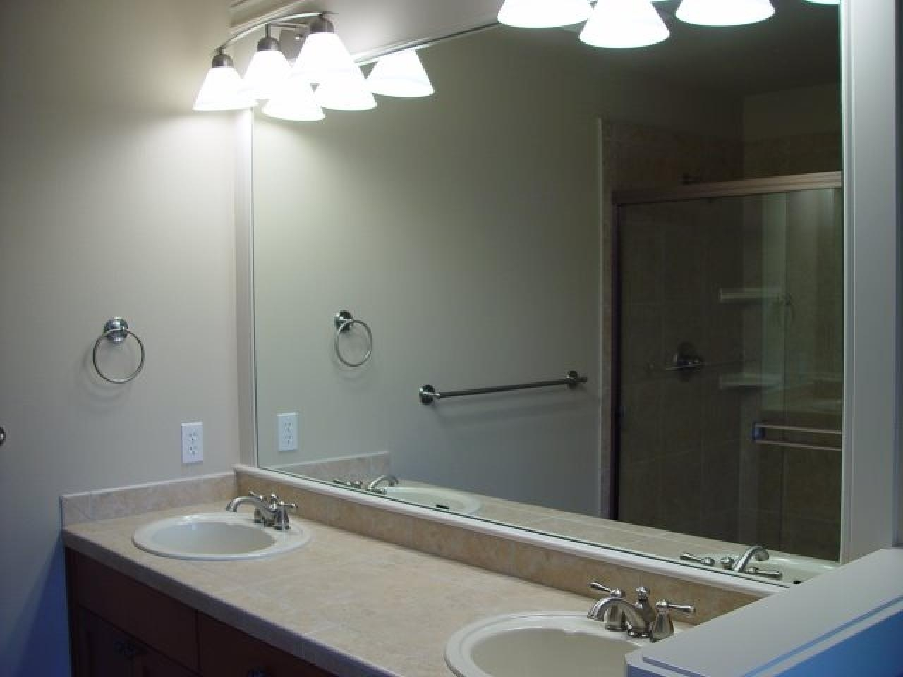 Bathrooms Design : Wall Mounted Mirror Unframed Mirrors Regarding Large Mirrors For Bathroom Walls (Image 13 of 20)