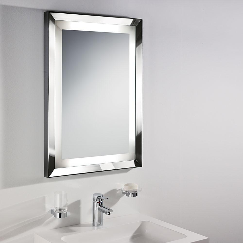 Bathrooms Design : Wall Mounted Mirror White Bathroom Mirror With Regarding Wall Mirrors For Bathrooms (Image 8 of 20)