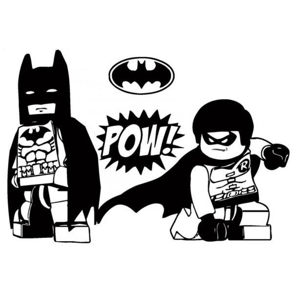 Batman And Robin Superhero Wall Art Sticker Decal Picture Inside Superhero Wall Art Stickers (Image 7 of 20)
