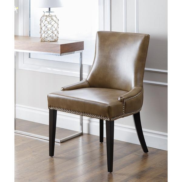 Baxton Studio Dylin Contemporary Dark Brown Faux Leather With In Recent Dark Brown Leather Dining Chairs (Image 3 of 20)