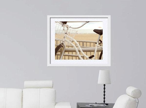 Beach Bicycle | Boho Chic Beach House | White Beige Wall Art Photo With Regard To Boho Chic Wall Art (Image 5 of 20)