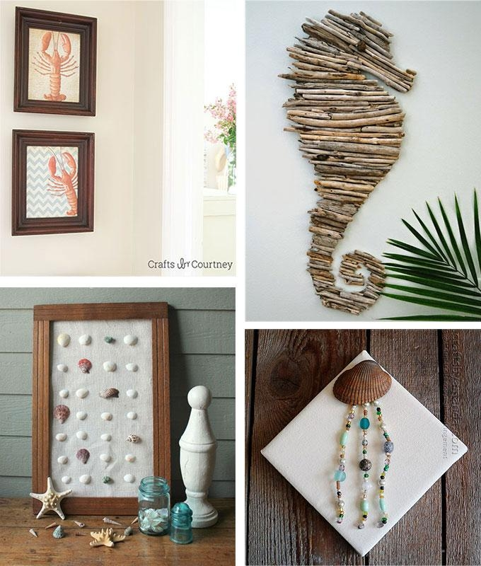 Beach Crafts: Coastal Diy Wall Art For Beach Themed Wall Art (Image 4 of 20)