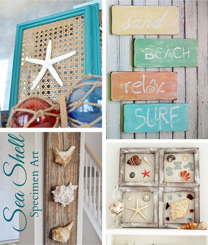 Beach Crafts: Coastal Diy Wall Art For Beach Themed Wall Art (Image 3 of 20)
