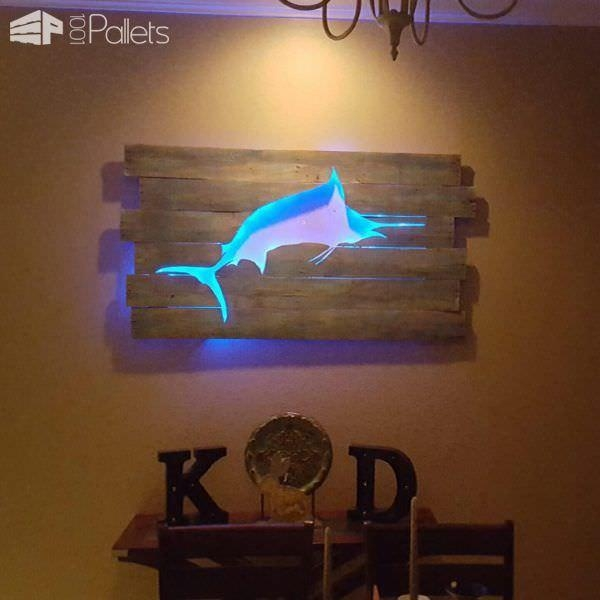 Beautiful Backlit Pallet Wall Art • 1001 Pallets Intended For Backlit Wall Art (Image 9 of 20)