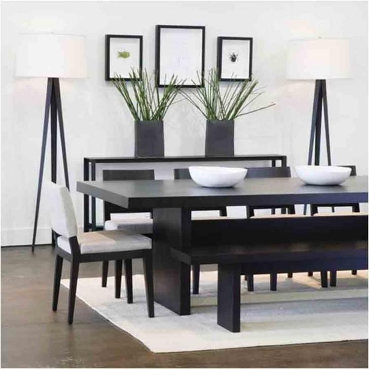 Beautiful Black Wood Dining Table With Cabria Dark Extension In Current Solid Dark Wood Dining Tables (Image 2 of 20)