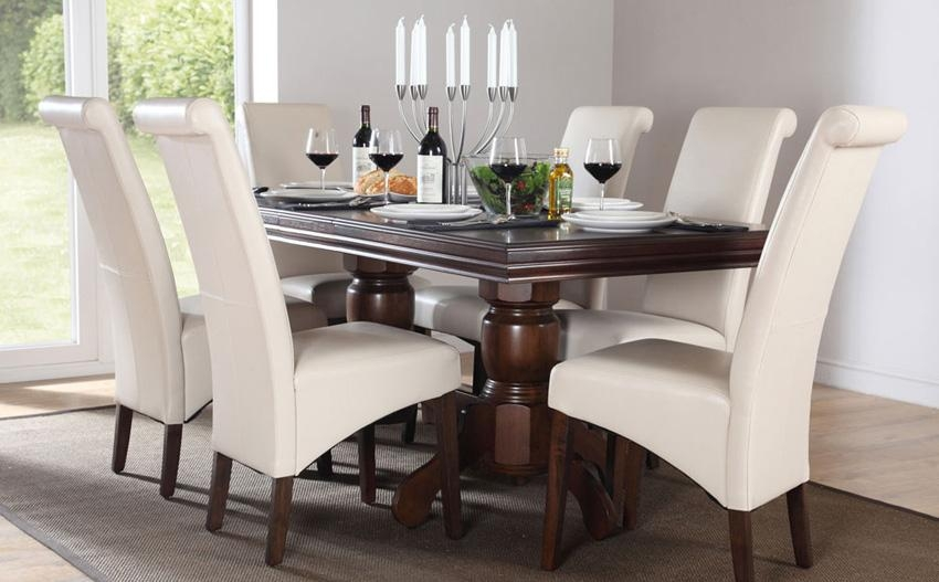 Beautiful Dark Wood Dining Tables And Chairs Dark Wood Dining For Latest Solid Dark Wood Dining Tables (Image 3 of 20)
