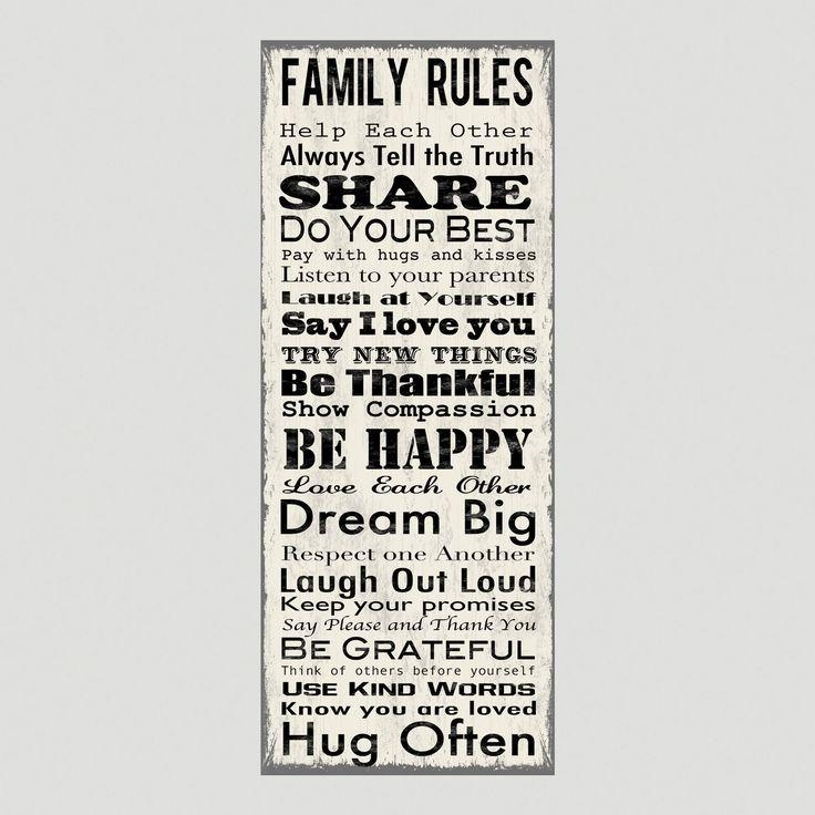 Beautiful Family Rules Wall Art | About My Blog In Family Rules Canvas Wall Art (View 5 of 20)