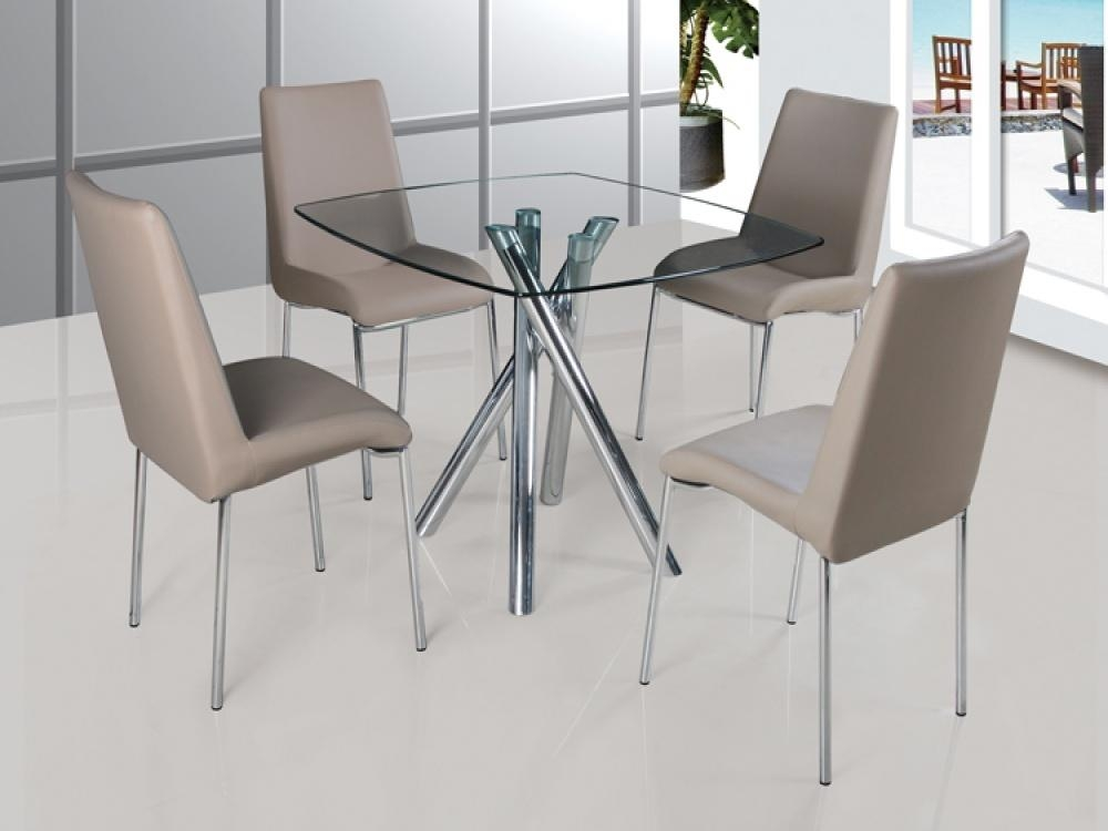 Beautiful Glass Table And Chairs With Fancy Contemporary Glass Regarding Most Recent Round Black Glass Dining Tables And Chairs (Image 1 of 20)
