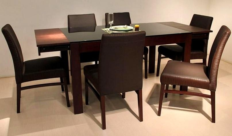 Beautiful Modern Dark Wood Dining Table | Nytexas In Recent Solid Dark Wood Dining Tables (Image 4 of 20)