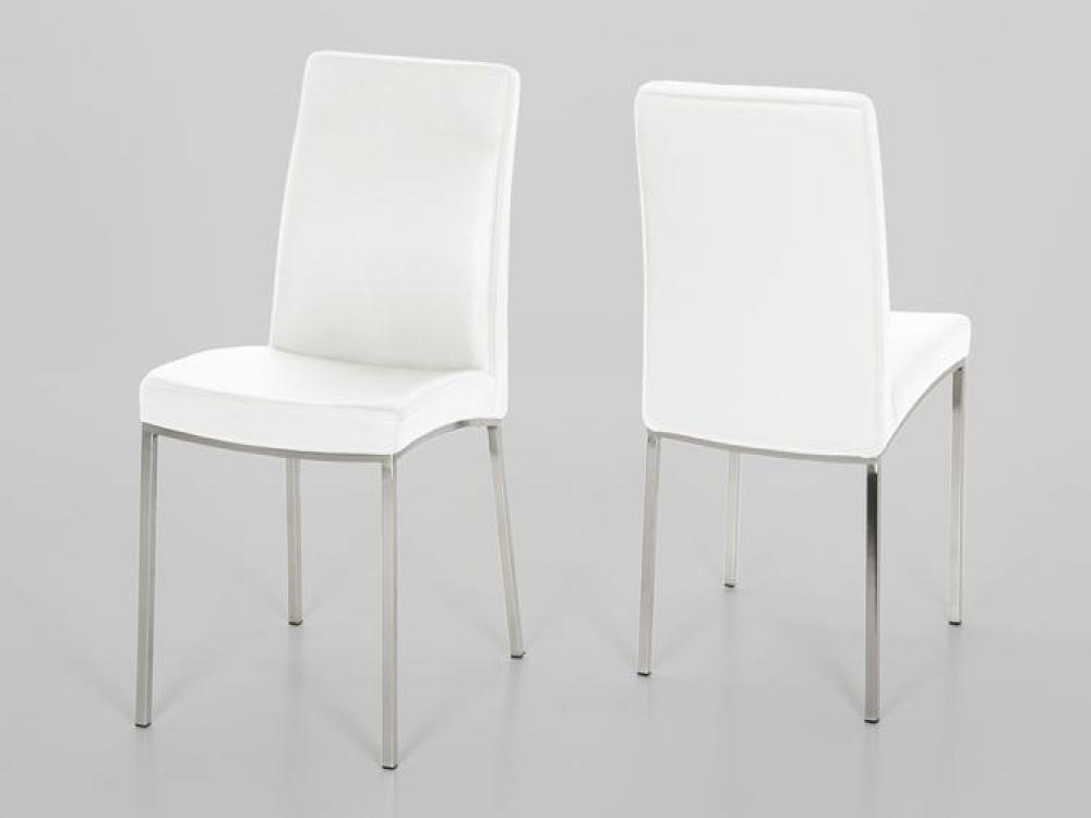 Beautiful White Leather Dining Chair In Interior Design For Home Intended For White Leather Dining Chairs (Image 2 of 20)