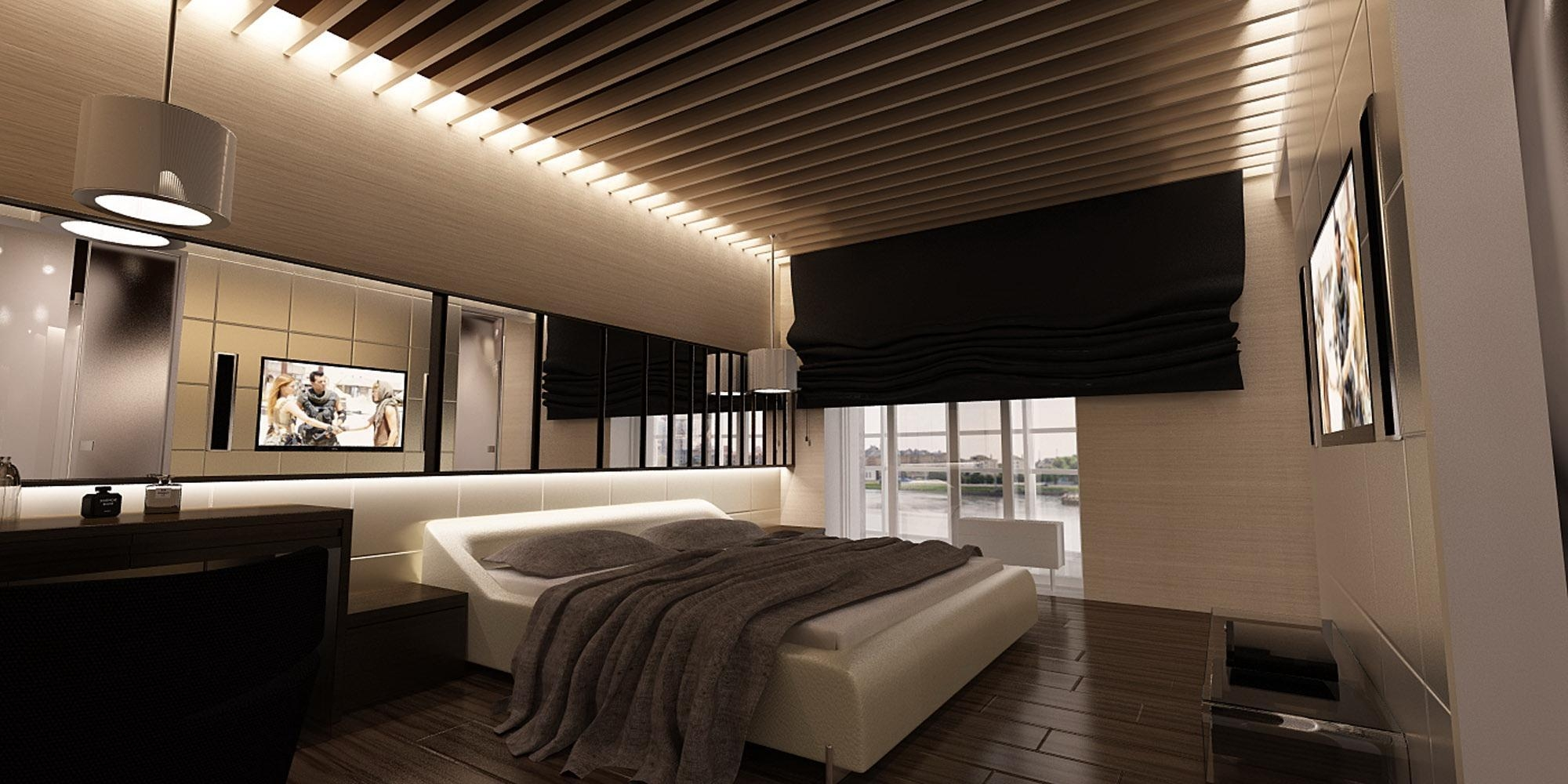 Bedroom : Simple Cool Large Bedroom Wall Ideas Pinterest Dark With Ceiling Mirrors For Bedroom (View 3 of 20)
