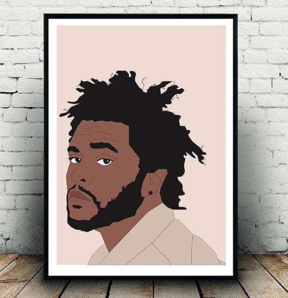 Beige/nude The Weeknd Wall Art Print/fashion Poster/art Print Within The Weeknd Wall Art (Image 5 of 20)