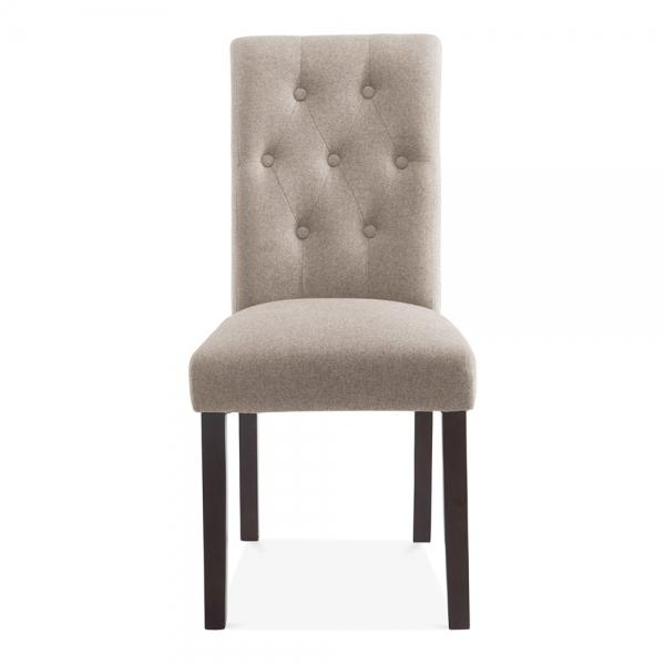 Belgrave High Back Dining Room Chair Cream | Button Back Detail Pertaining To Most Popular Button Back Dining Chairs (Image 2 of 20)