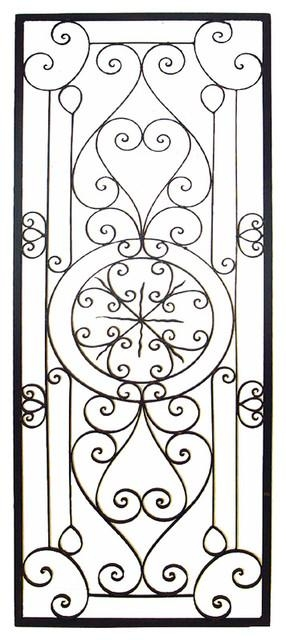 "Bellissa Tuscan 64"""" Large Rectangular Wrought Iron Wall Grille With Regard To Large Wrought Iron Wall Art (View 10 of 20)"