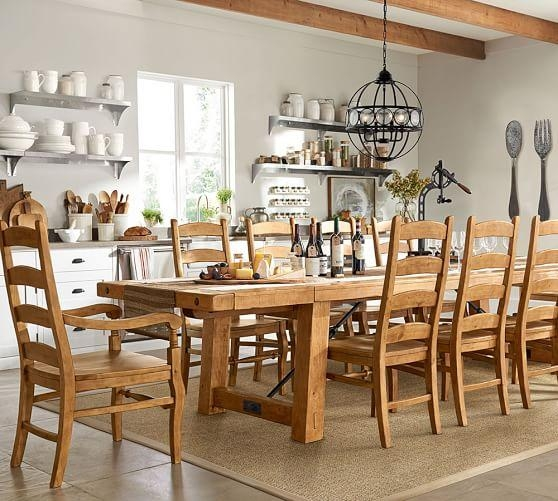 Benchwright Extending Dining Table, Vintage Spruce | Pottery Barn With Regard To Most Popular Extending Dining Sets (Image 2 of 20)