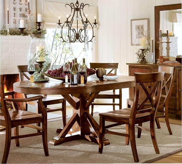 Benchwright Extending Pedestal Dining Table, Alfresco Brown With Current Pedestal Dining Tables And Chairs (Image 5 of 20)