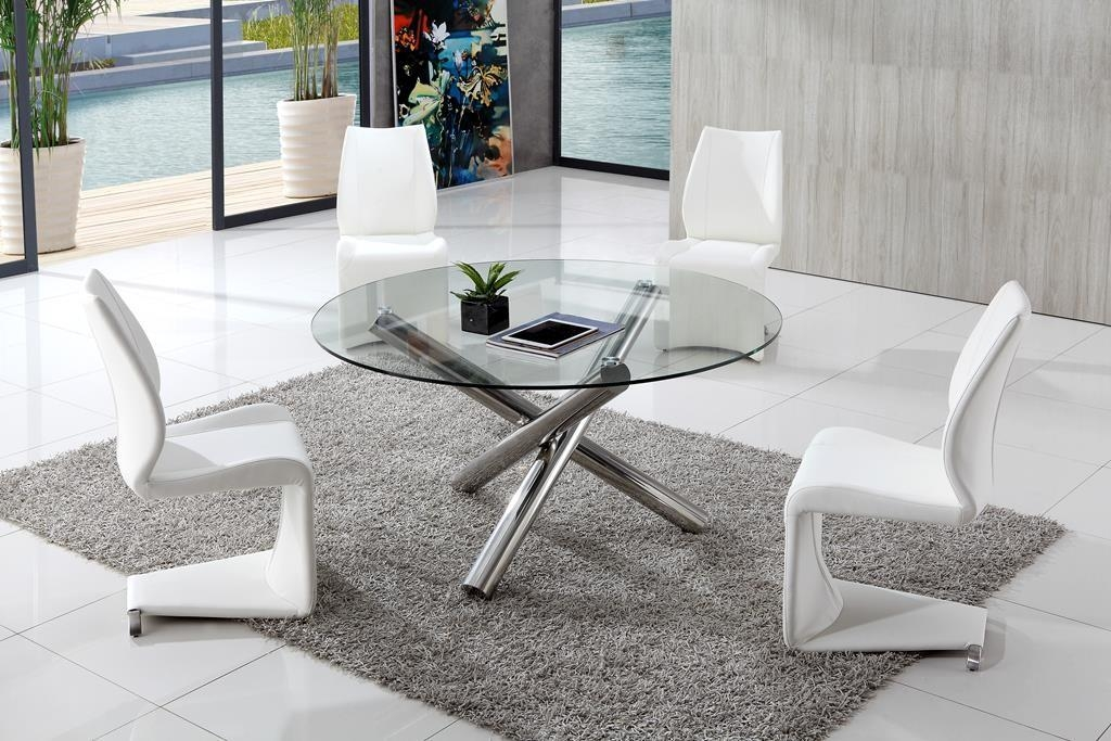 Benefits Of Using Glass Dining Table Thementra With Regard To Latest Clear Glass Dining Tables And Chairs (Image 6 of 20)
