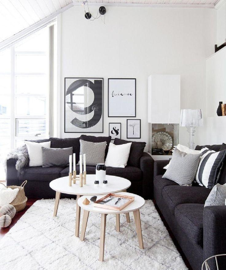 Best 20+ Dark Sofa Ideas On Pinterest—No Signup Required | Black Within Black Sofas Decors (Image 1 of 20)