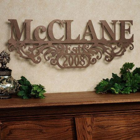 Best 20+ Family Name Art Ideas On Pinterest—No Signup Required Pertaining To Custom Last Name Wall Art (Image 1 of 20)