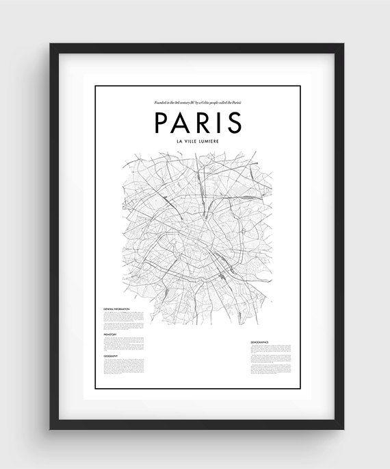 Best 20+ Paris Map Ideas On Pinterest—No Signup Required | Images Inside Map Of Paris Wall Art (Photo 4 of 20)