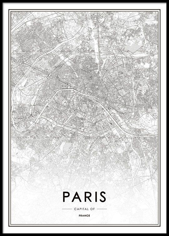 Best 20+ Paris Map Ideas On Pinterest—No Signup Required | Images Within Map Of Paris Wall Art (Image 6 of 20)