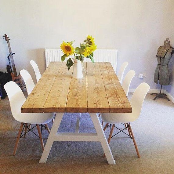 Dining Table Rollins Dining Table: 20 Best Collection Of White Dining Tables 8 Seater