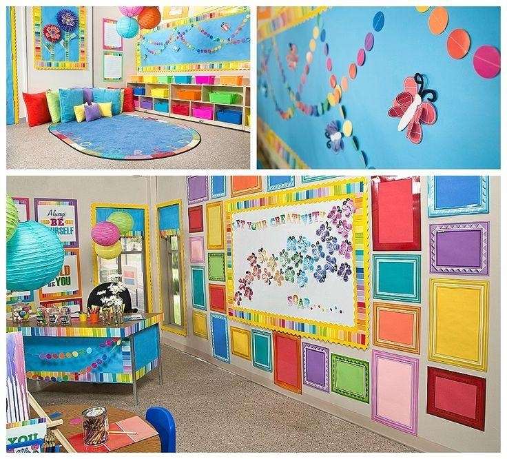Top 20 wall art for kindergarten classroom wall art ideas for Classroom wall mural ideas