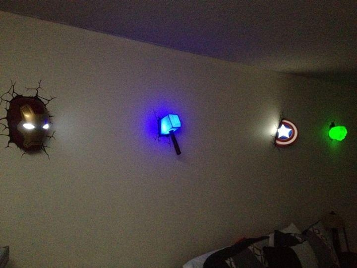 Best 25+ Avengers Wall Lights Ideas On Pinterest | Avengers Room In 3D Wall Art Nightlight (Image 6 of 20)
