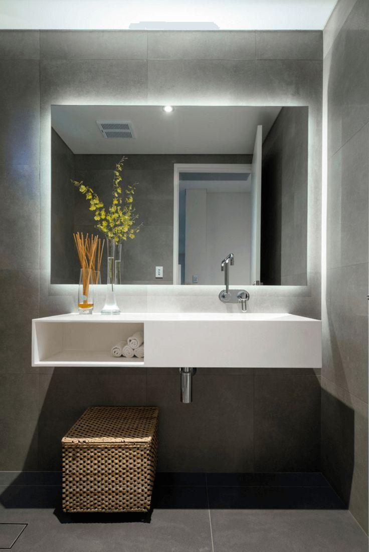 Best 25+ Backlit Mirror Ideas On Pinterest | Backlit Bathroom Intended For Large Flat Bathroom Mirrors (Image 15 of 20)