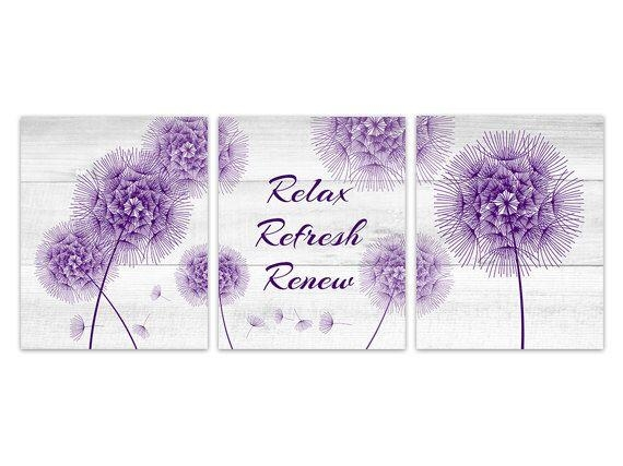 Featured Image of Purple Bathroom Wall Art