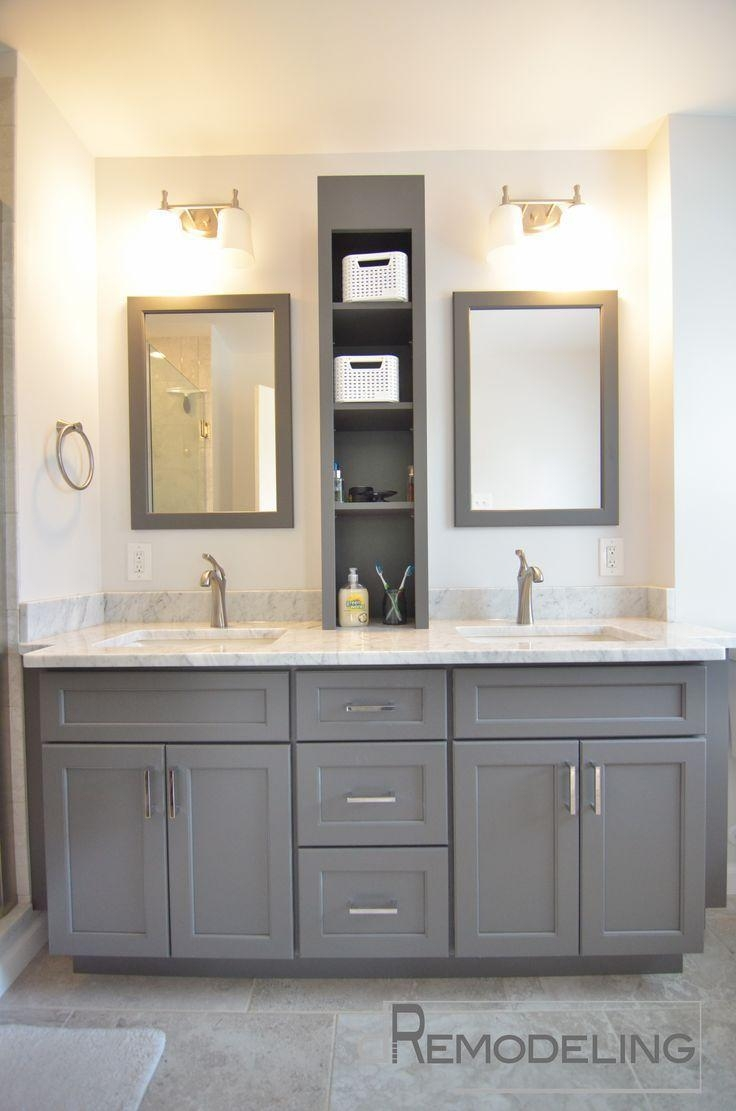 Best 25+ Bathroom Double Vanity Ideas On Pinterest | Double Vanity With Regard To Bathroom Mirrors Ideas With Vanity (Image 10 of 20)