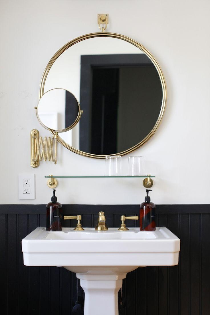 Best 25+ Bathroom Mirror With Shelf Ideas On Pinterest | Bathroom Intended For Round Mirrors For Bathroom (Image 14 of 20)