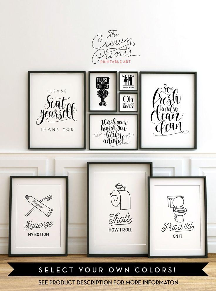 Best 25+ Bathroom Wall Art Ideas On Pinterest | Wall Decor For For Black And White Bathroom Wall Art (View 18 of 20)