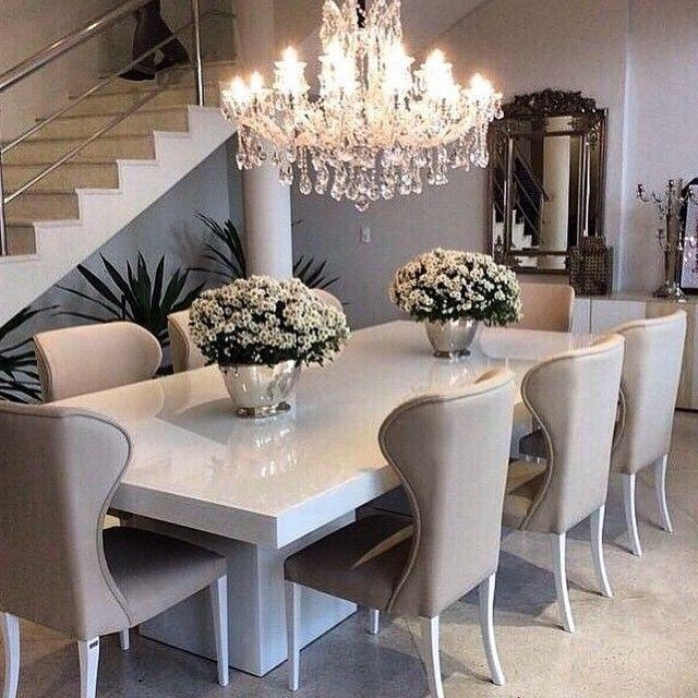 Best 25+ Beige Dining Room Ideas On Pinterest | Beige Kitchen Intended For Most Current White Dining Suites (Image 1 of 20)