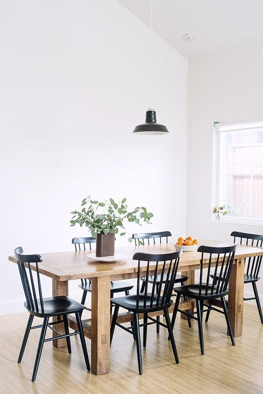 Best 25+ Black Dining Chairs Ideas On Pinterest | Black Dining Regarding Most Popular Black Dining Chairs (View 3 of 20)