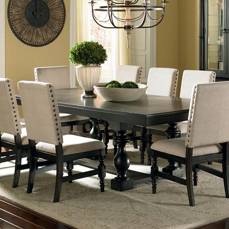 Best 25+ Black Dining Room Furniture Ideas On Pinterest | Dinning With Most Up To Date Black Wood Dining Tables Sets (Image 5 of 20)