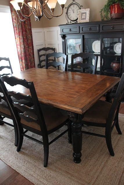Best 25+ Black Dining Room Furniture Ideas On Pinterest | Dinning With Most Up To Date Black Wood Dining Tables Sets (Image 4 of 20)