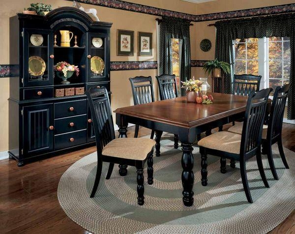 Best 25+ Black Dining Room Sets Ideas On Pinterest | Kitchen Intended For Current Black Wood Dining Tables Sets (Image 6 of 20)
