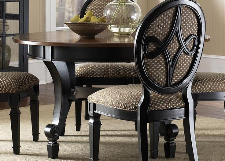 Best 25+ Black Dining Room Sets Ideas On Pinterest | Kitchen Throughout Most Recently Released Black Wood Dining Tables Sets (Image 7 of 20)