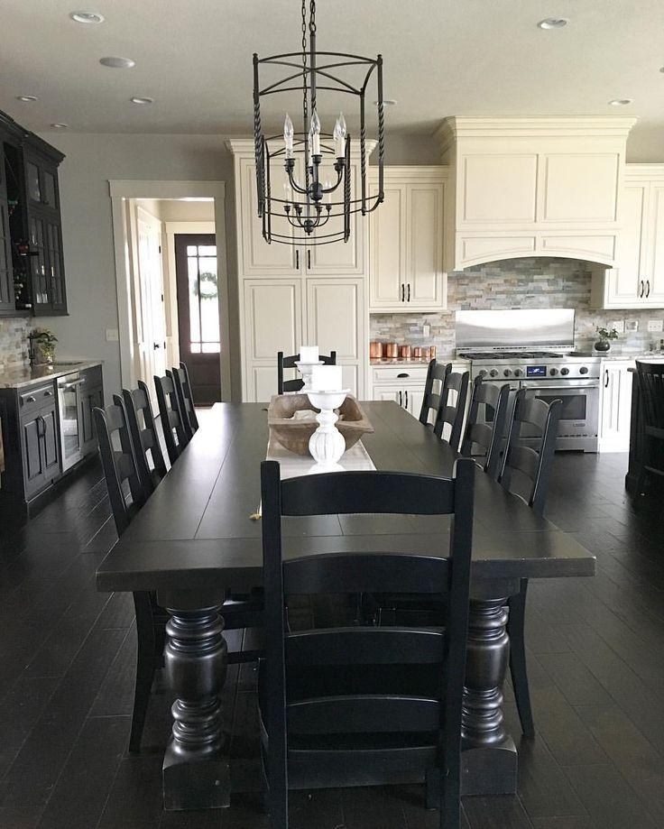 Best 25+ Black Dining Room Table Ideas On Pinterest | White Dining Inside Most Recently Released Black Dining Tables (Image 1 of 20)