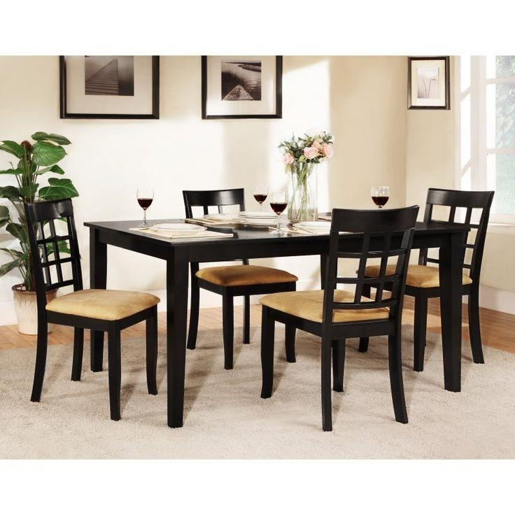 Best 25+ Black Dining Table Set Ideas On Pinterest | Black Dining Within Recent Dining Tables Sets (View 10 of 20)