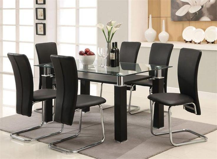 Glass and Chrome Dining Tables and Chairs Dining Room Ideas