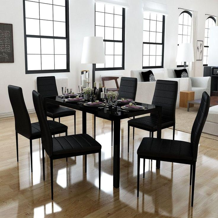 Best 25+ Black Glass Dining Table Ideas On Pinterest | Glass Top Regarding Current Black Glass Dining Tables (Image 3 of 20)