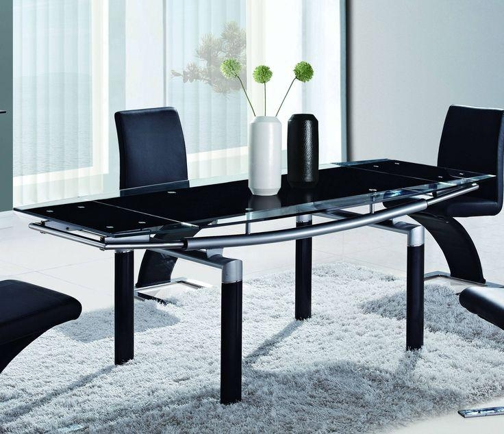 Best 25+ Black Glass Dining Table Ideas On Pinterest | Glass Top With Regard To Most Current Black Glass Dining Tables (Image 4 of 20)
