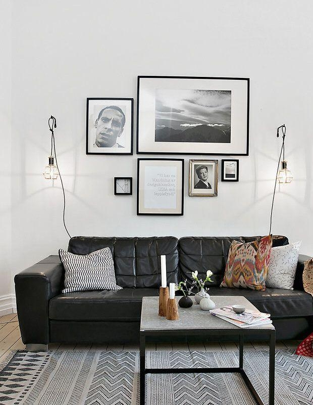 Best 25+ Black Leather Couches Ideas On Pinterest | Black Couch Inside Black Sofas Decors (View 18 of 20)