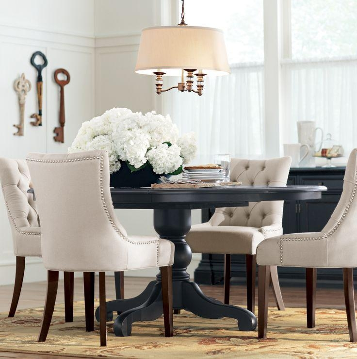 Best 25+ Black Round Dining Table Ideas On Pinterest | Round Regarding Most Recent Dining Tables Chairs (Image 1 of 20)