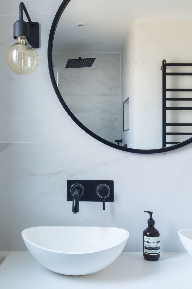 Best 25+ Black Round Mirror Ideas On Pinterest | Black Bathroom Inside Round Mirrors For Bathroom (Image 15 of 20)