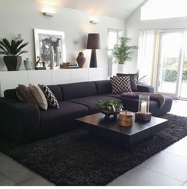 Best 25+ Black Sofa Decor Ideas On Pinterest | Black Sofa, Black Pertaining To Black Sofas Decors (Image 11 of 20)