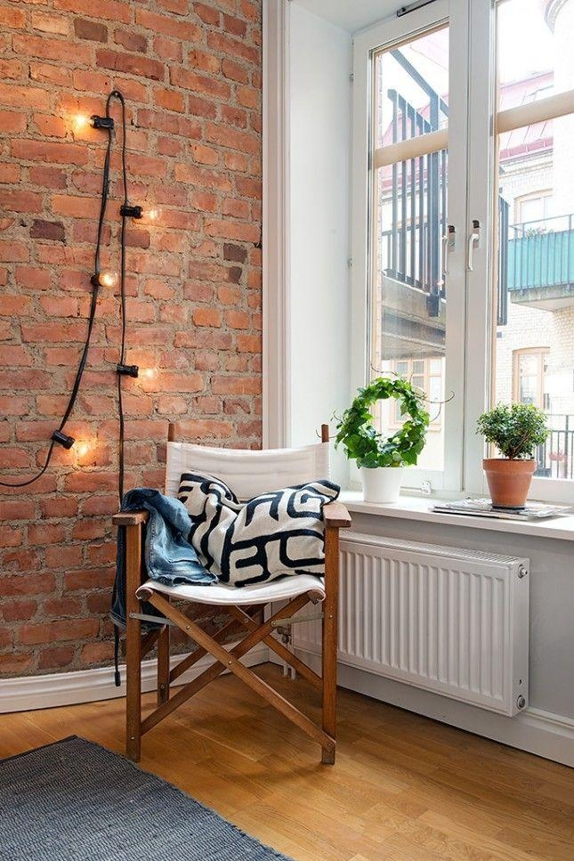 Best 25+ Brick Wall Bedroom Ideas On Pinterest | Industrial Pertaining To Hanging Wall Art For Brick Wall (View 18 of 20)